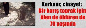 Korkunç cinayet: Bir karış toprak için ölen de öldüren de 70 yaşında