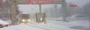 Balkanlardan gelen kar Dereköy'den giriş yaptı