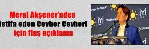 Meral Akşener'nden istifa eden Cevher Cevheri için flaş açıklama