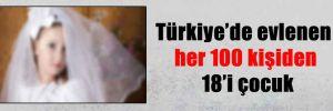 Türkiye'de evlenen her 100 kişiden 18'i çocuk