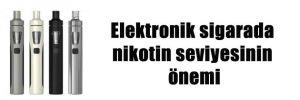 Elektronik sigarada nikotin seviyesinin önemi