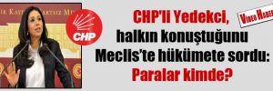 CHP'li Yedekci, halkın konuştuğunu Meclis'te hükümete sordu: Paralar kimde?