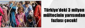 Türkiye'deki 3 milyon mültecinin yarısından fazlası çocuk!