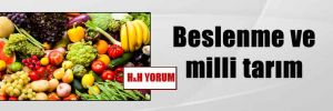 Beslenme ve milli tarım