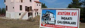 Yeniden yapılan Atatürk Evi'nin inşaatında sona gelindi