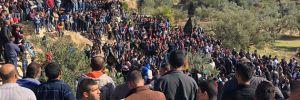 İsrail askerleri tarafından vurulan Filistinli protestocu toprağa verildi