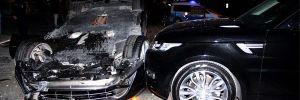 Sarıyer'de lüks araç takla attı! Şok Burak Yılmaz ve Fatih Terim iddiası