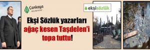 Ekşi Sözlük yazarları ağaç kesen Taşdelen'i topa tuttu
