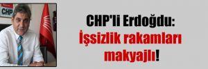 CHP'li Erdoğdu: İşsizlik rakamları makyajlı!