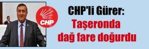 CHP'li Gürer: Taşeronda dağ fare doğurdu