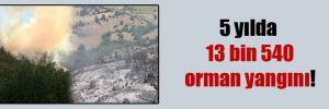 5 yılda 13 bin 540 orman yangını!
