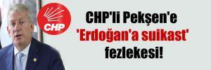 CHP'li Pekşen'e 'Erdoğan'a suikast' fezlekesi!