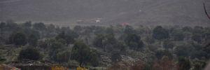 Afrin'in köylerinde bez parçaları indirildi
