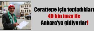 Cerattepe için topladıkları 40 bin imza ile Ankara'ya gidiyorlar!