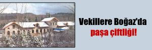 Vekillere Boğaz'da paşa çiftliği!