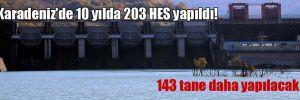 Karadeniz'de 10 yılda 203 HES yapıldı! 143 tane daha yapılacak