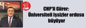 CHP'li Gürer: Üniversiteli işsizler ordusu büyüyor