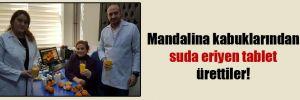 Mandalina kabuklarından suda eriyen tablet ürettiler!