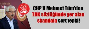 CHP'li Mehmet Tüm'den TDK sözlüğünde yer alan skandala sert tepki!