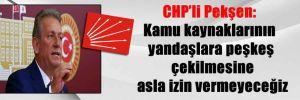 CHP'li Pekşen: Kamu kaynaklarının yandaşlara peşkeş çekilmesine asla izin vermeyeceğiz