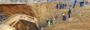 Sultangazi'de inşaat alanında toprak kayması