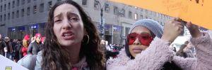 On binlerce kadın Trump'ı protesto etti