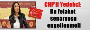CHP'li Yedekci: Bu felaket senaryosu engellenmeli