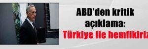 ABD'den kritik açıklama: Türkiye ile hemfikiriz