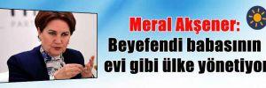 Meral Akşener: Beyefendi babasının evi gibi ülke yönetiyor