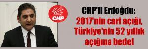 CHP'li Erdoğdu: 2017'nin cari açığı, Türkiye'nin 52 yıllık açığına bedel