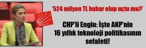CHP'li Engin: İşte AKP'nin 16 yıllık teknoloji politikasının sefaleti!