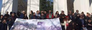Maçka Parkı'nda tünel inşaatı protestosu