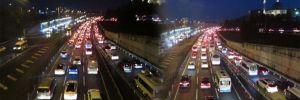 Kurban Bayramı sonrası TEM Otoyolu'nda trafik yoğunluğu