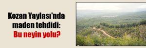 Kozan Yaylası'nda maden tehdidi: Bu neyin yolu?