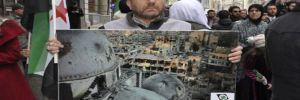 Suriyelilerden Rusya Başkonsolosluğu önünde eylem