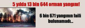 5 yılda 13 bin 644 orman yangını!  6 bin 671 yangının faili bulunamadı…