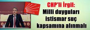 CHP'li İrgil: Milli duyguları istismar suç kapsamına alınmalı