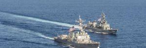 ABD ve Çin donanmaları karşı karşıya geldi
