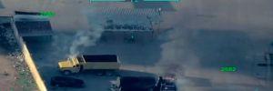 Afrin'den kaçan teröristler, sivillerin araçlarını yakıyor