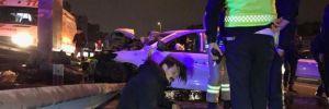 Bakırköy'de kaza! 1'i ağır 3 yaralı
