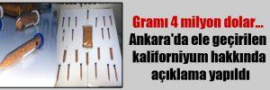 Gramı 4 milyon dolar… Ankara'da ele geçirilen kaliforniyum hakkında açıklama yapıldı