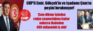CHP'li Emir, Gökçek'in ve işadamı Çam'ın peşini bırakmıyor!