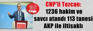 CHP'li Tezcan: 1236 hakim ve savcı atandı 113 tanesi, AKP ile iltisaklı