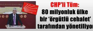 CHP'li Tüm: 80 milyonluk ülke bir 'örgütlü cehalet' tarafından yönetiliyor