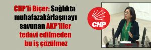 CHP'li Biçer: Sağlıkta muhafazakârlaşmayı savunan AKP'liler tedavi edilmeden bu iş çözülmez