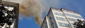 Şişli'de bir binada baca yangını