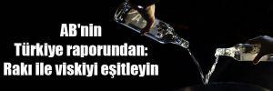 AB'nin Türkiye raporundan: Rakı ile viskiyi eşitleyin