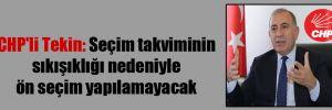 CHP'li Tekin: Seçim takviminin sıkışıklığı nedeniyle ön seçim yapılamayacak