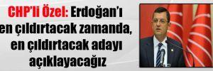 CHP'li Özel: Erdoğan'ı en çıldırtacak zamanda, en çıldırtacak adayı açıklayacağız