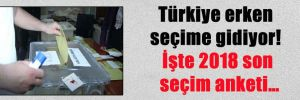 Türkiye erken seçime gidiyor! İşte 2018 son seçim anketi…